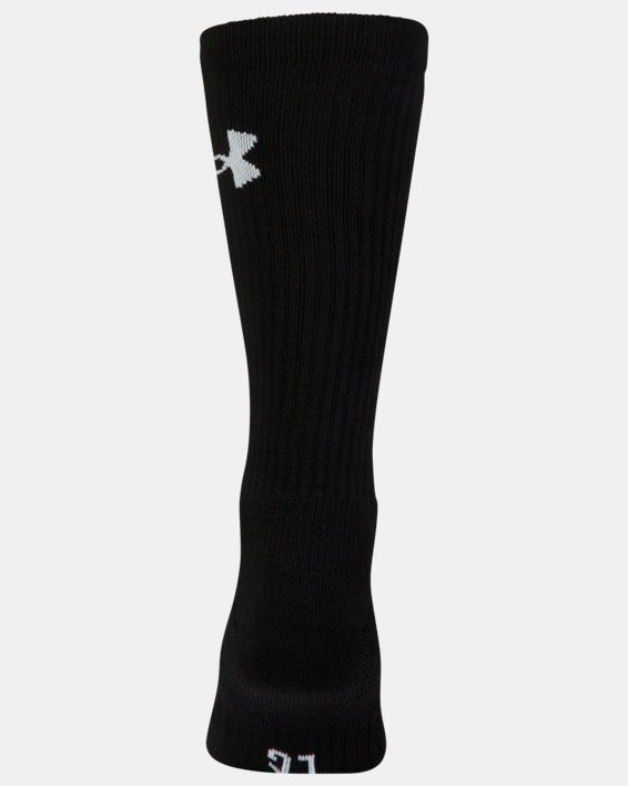 UA Performance Crew Socks - 3-Pack, Red, pdpMainDesktop image number 5