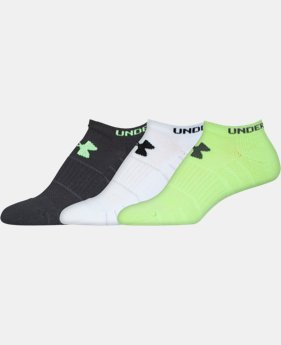 3-Pack Women's UA Performance No Show Socks 6-Pack  1 Color $17.99