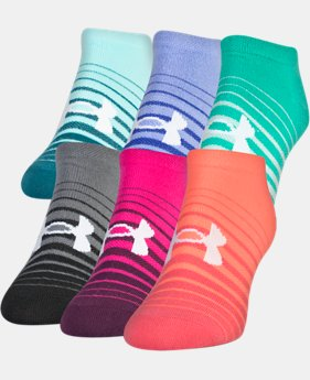 Women's UA Twist No Show Socks— 6-Pack  2  Colors Available $19.99