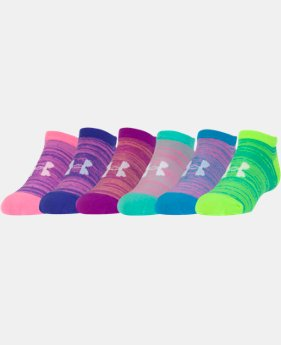 Best Seller Girls' UA Essential Twist No Show Socks - 6 Pack    $18.99
