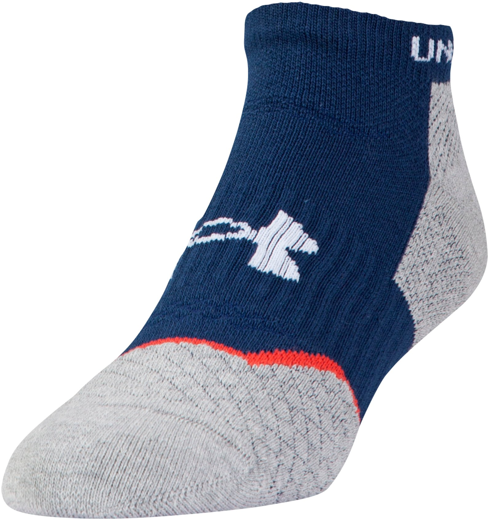 Men's UA Tour No Show Socks, Midnight Navy, zoomed image