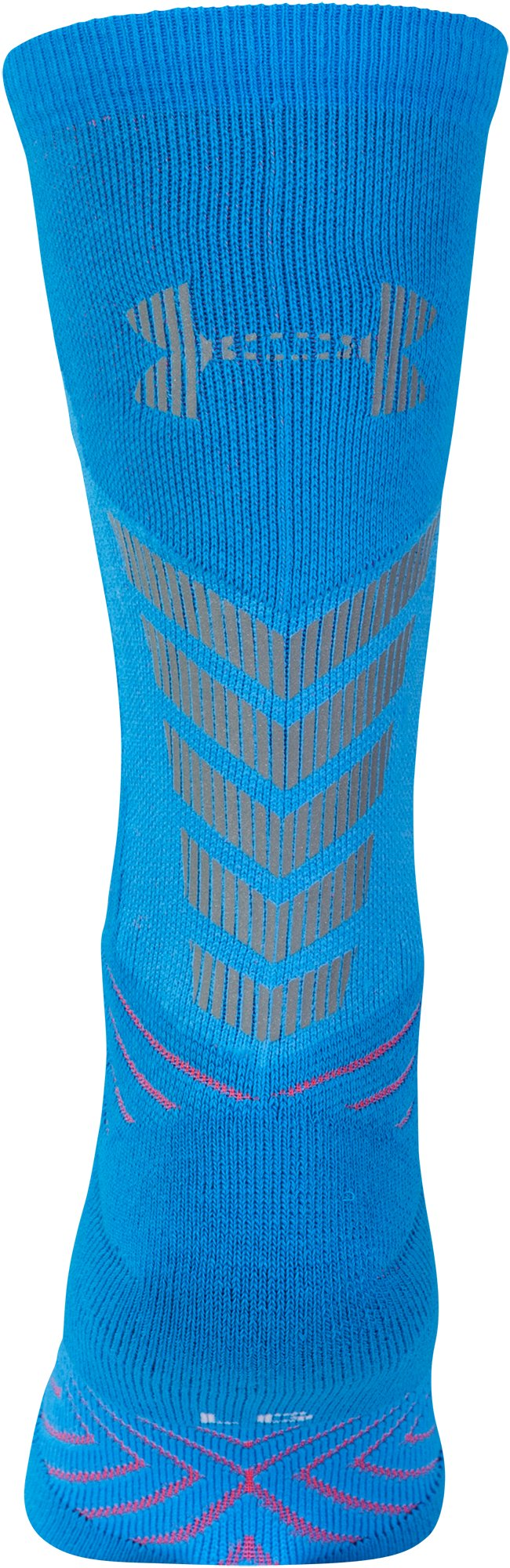 Men's UA Undeniable Reflective Crew Socks, ELECTRIC BLUE