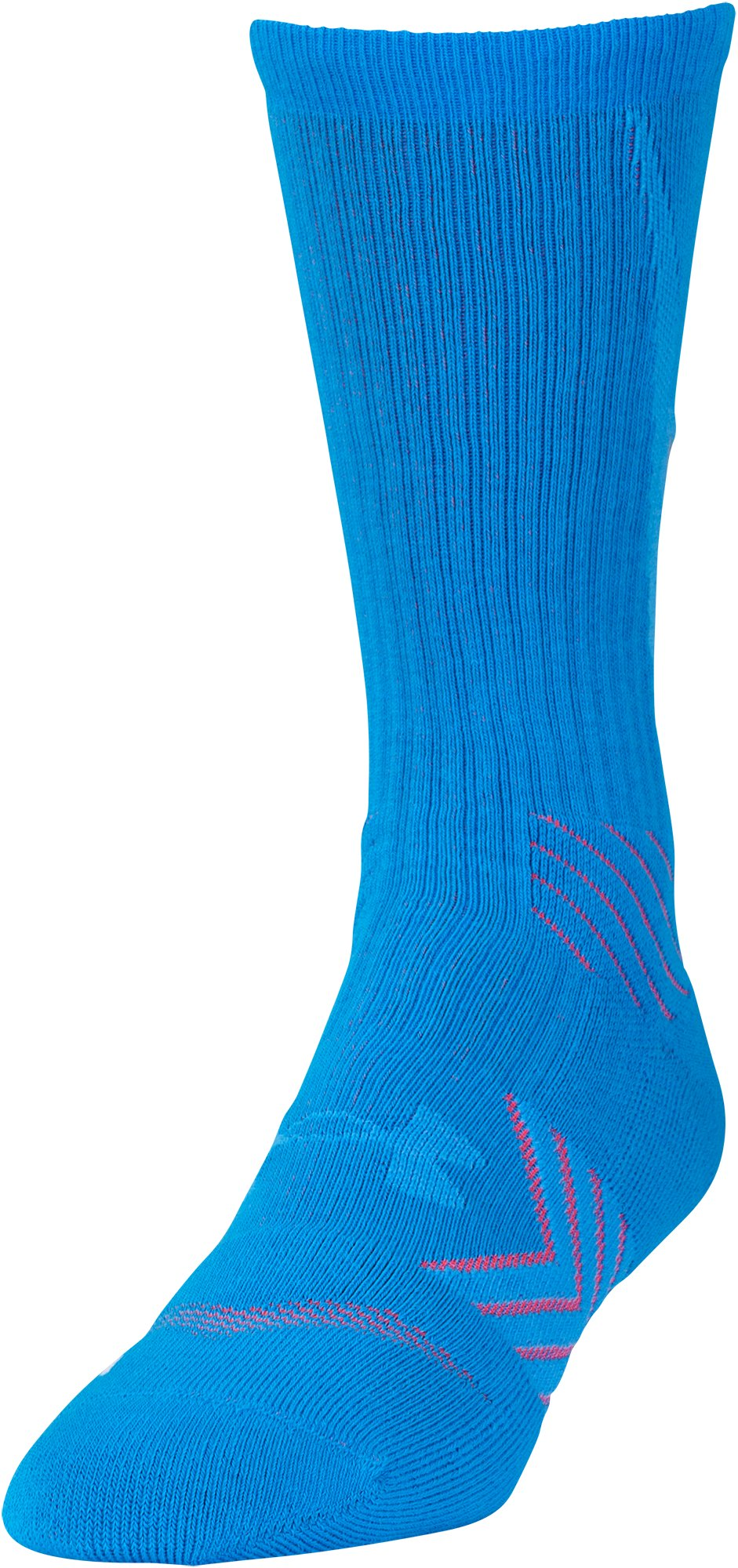 Men's UA Undeniable Reflective Crew Socks, ELECTRIC BLUE, zoomed image