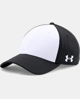 Men's UA Color Blocked Stretch Fit Cap  1  Color Available $13.99