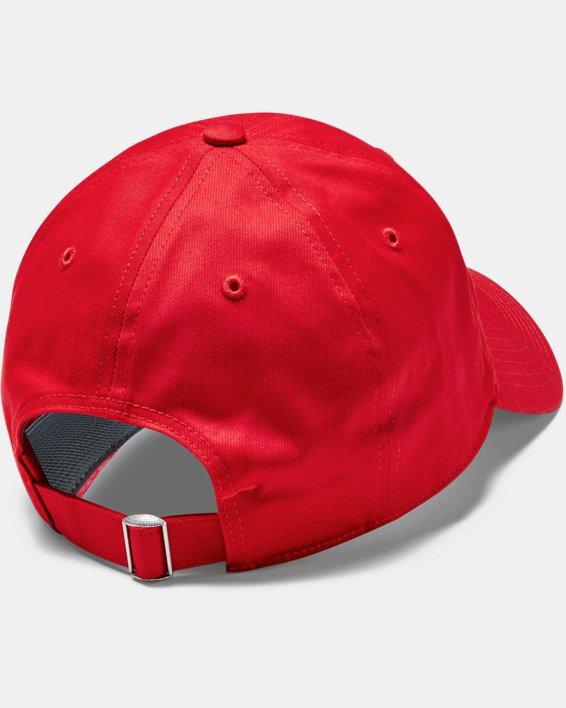 Men's UA Chino Adjustable Cap, Red, pdpMainDesktop image number 3