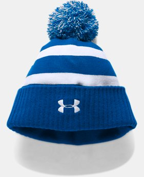 New to Outlet Boys' UA Pom Beanie LIMITED TIME OFFER 1 Color $17.49