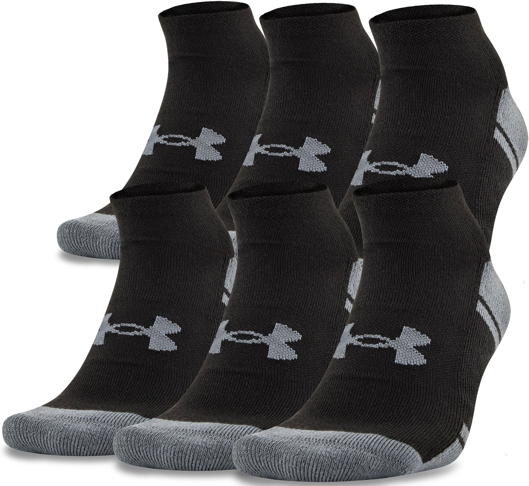 UA Resistor III No Show Socks – 6-Pack, Black