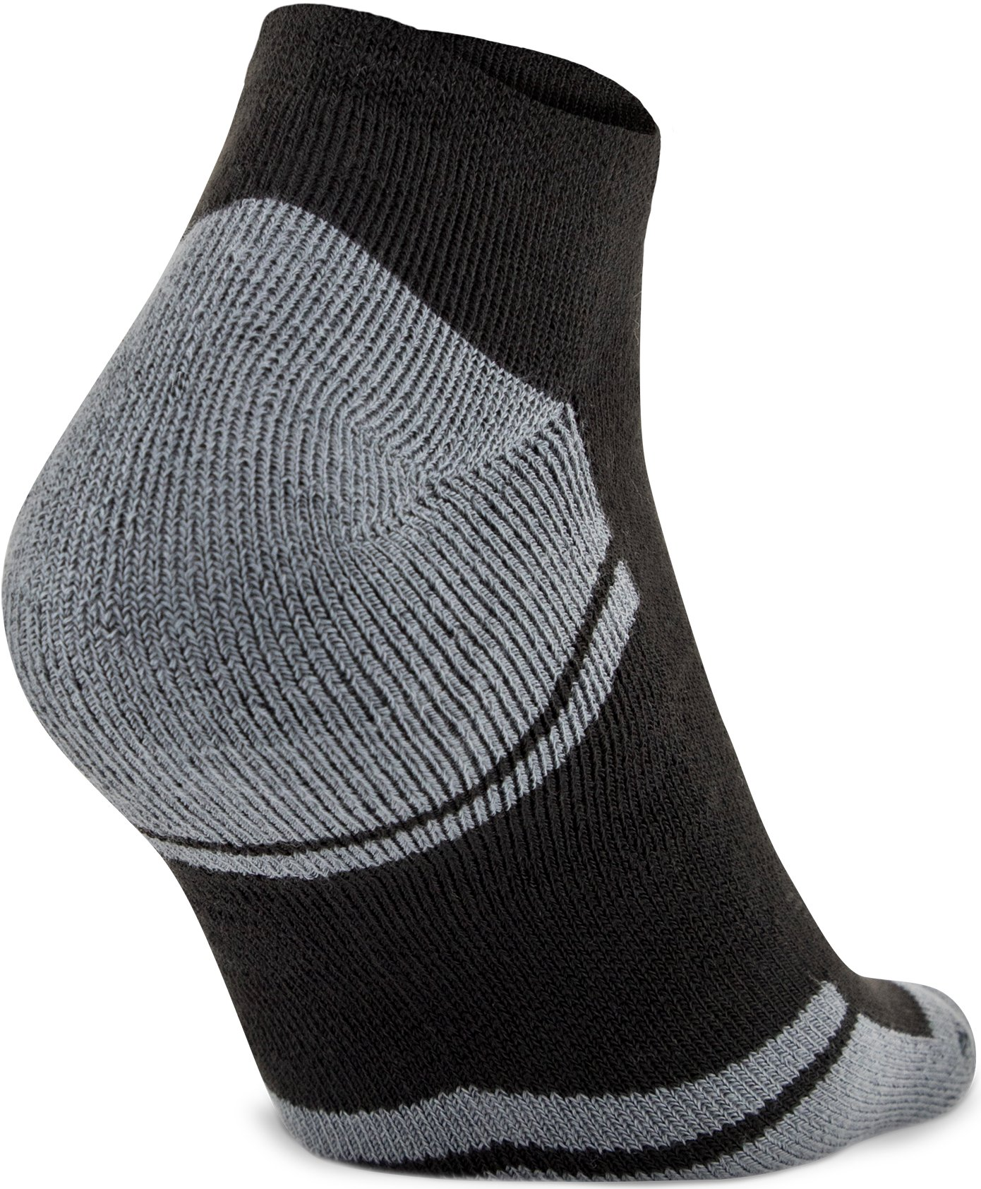 UA Resistor III No Show Socks – 6-Pack, Black ,