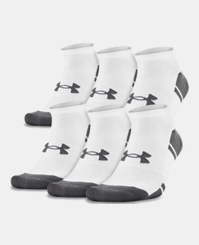 719cc361 UA Resistor III No Show Socks - 6-Pack 2 Colors Available $22