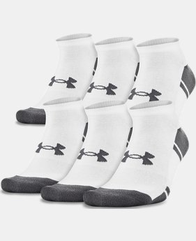 Men's UA Resistor III No Show Socks – 6-Pack  1  Color Available $25.99