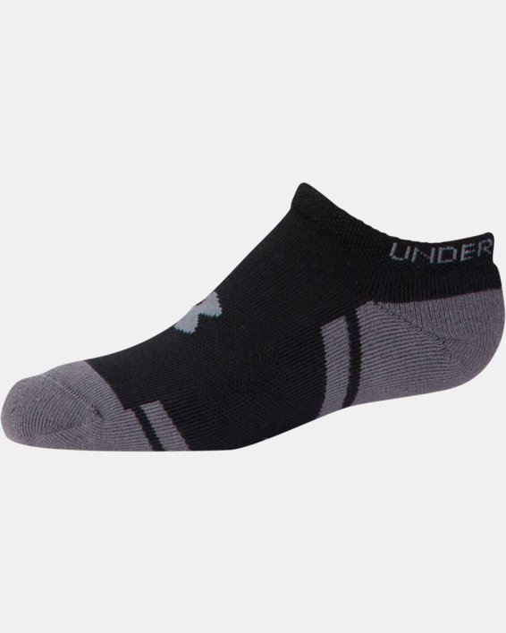 Boys' UA Resistor III No Show Socks - 6-Pack, Black, pdpMainDesktop image number 3