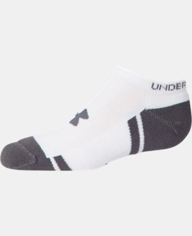 Boys' UA Resistor III No Show Socks 6-Pack