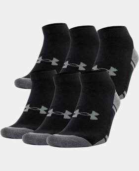 Men's UA Resistor III Lo Cut Socks – 6-Pack   $27
