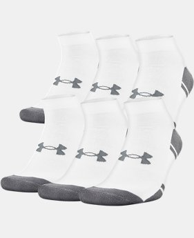 Best Seller UA Resistor III Lo Cut Socks – 6-Pack  2  Colors Available $22