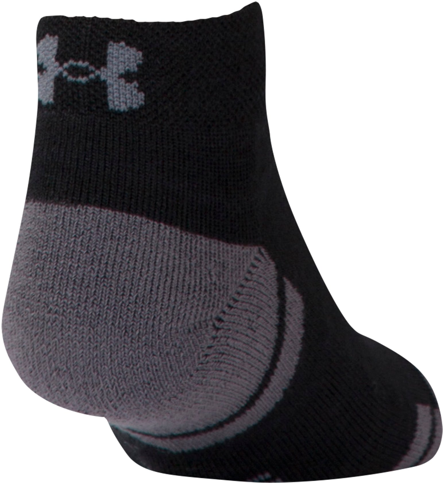 Boys' UA Resistor III Lo Cut Socks – 6-Pack, Black ,