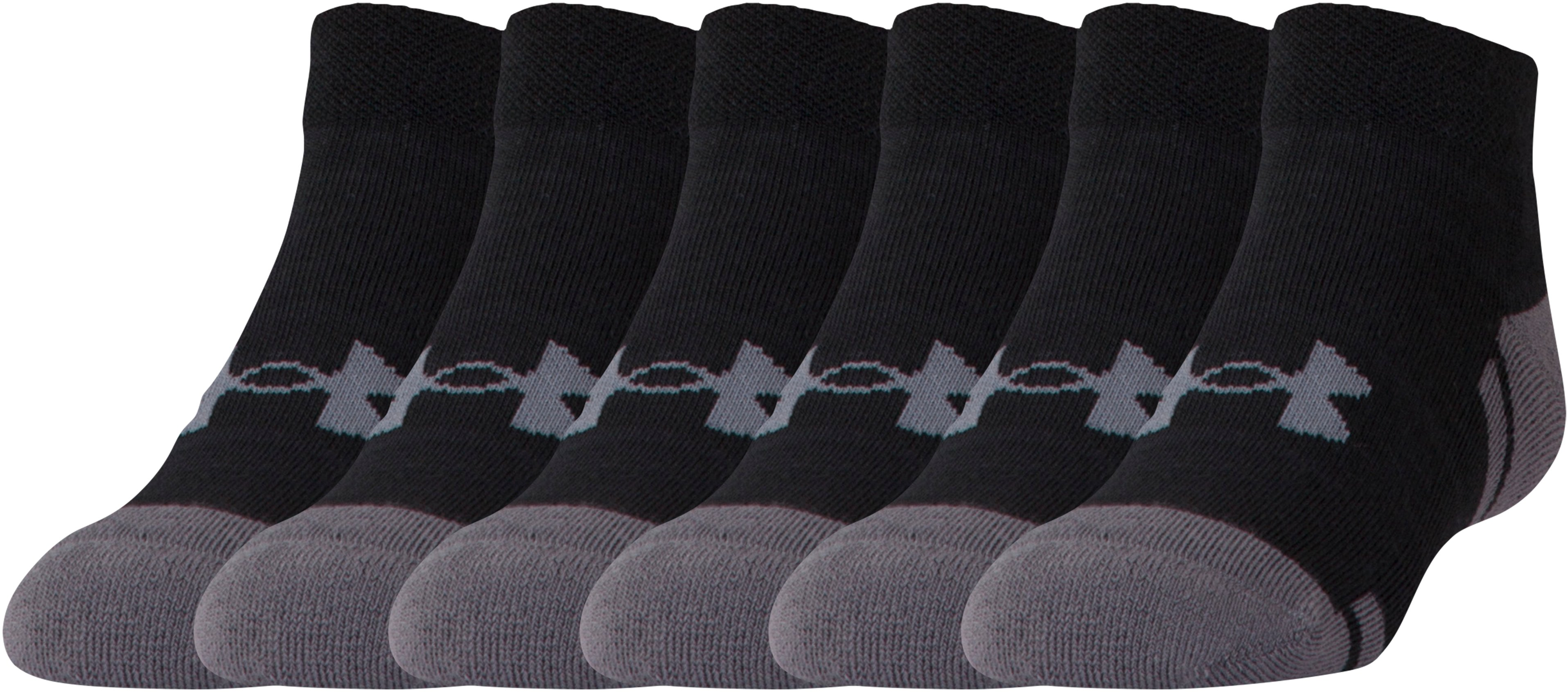 Boys' UA Resistor III Lo Cut Socks – 6-Pack, Black