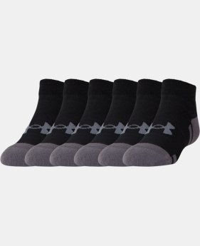 Best Seller Boys' UA Resistor III Lo Cut Socks – 6-Pack  2 Colors $21
