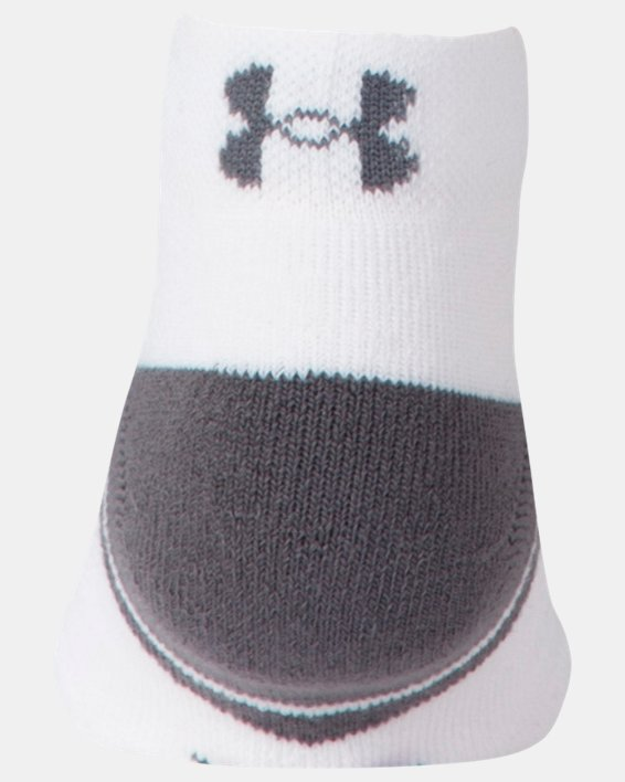 Boys' UA Resistor III Lo Cut Socks - 6-Pack, White, pdpMainDesktop image number 1