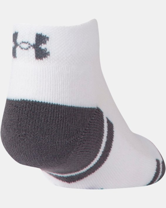Boys' UA Resistor III Lo Cut Socks - 6-Pack, White, pdpMainDesktop image number 2