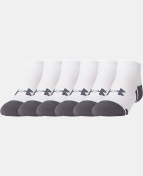 Boys' UA Resistor III Lo Cut Socks – 6-Pack  2  Colors Available $20.99