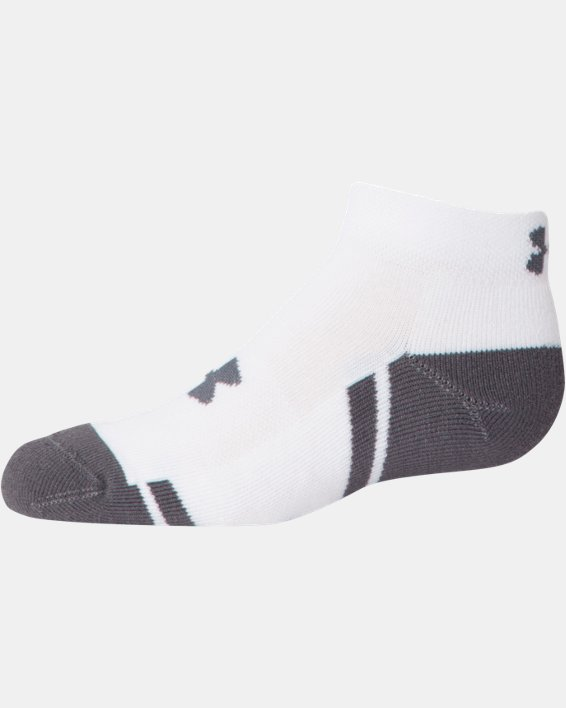 Boys' UA Resistor III Lo Cut Socks - 6-Pack, White, pdpMainDesktop image number 3