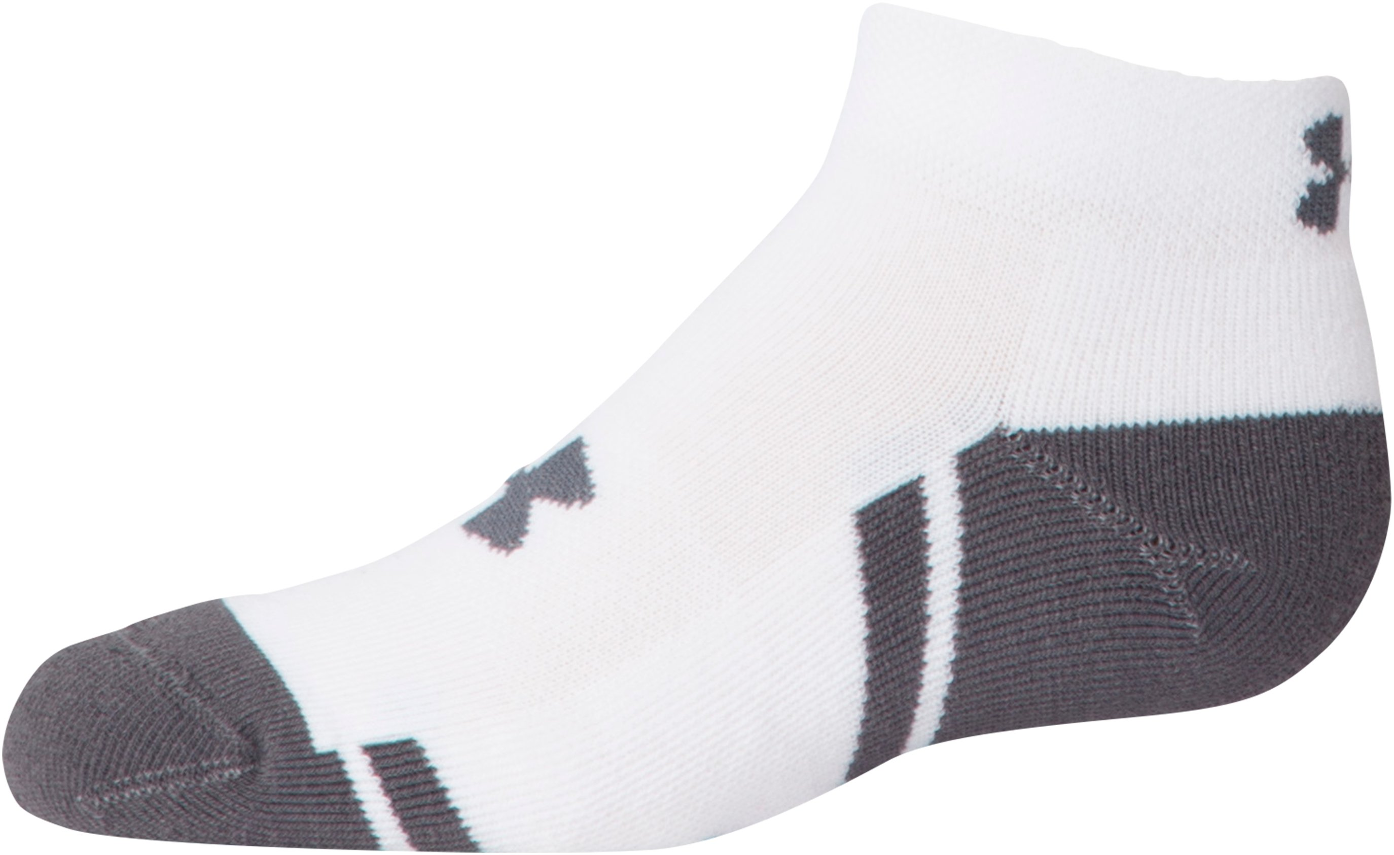 Boys' UA Resistor III Lo Cut Socks – 6-Pack, White,
