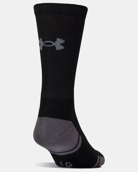 UA Resistor III Crew Socks - 6-Pack, Black, pdpMainDesktop image number 2