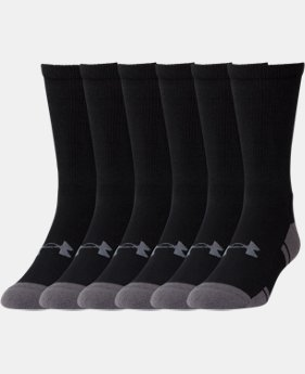 UA Resistor III Crew Socks – 6-Pack  1  Color Available $21.99