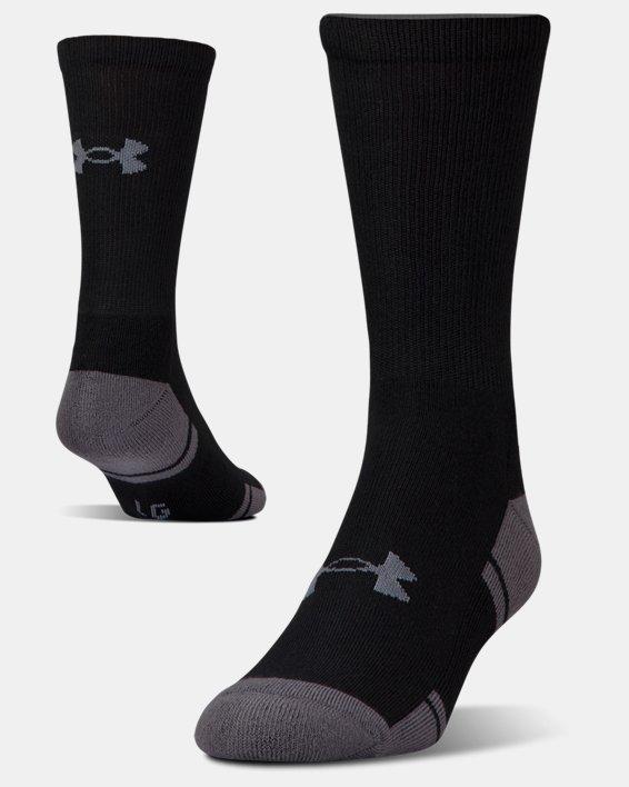 UA Resistor III Crew Socks - 6-Pack, Black, pdpMainDesktop image number 4