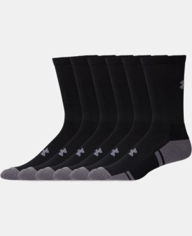 6-Pack Men's UA Resistor III Crew Socks 6-Pack  1 Color $21.99