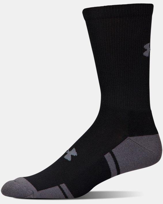 UA Resistor III Crew Socks - 6-Pack, Black, pdpMainDesktop image number 3