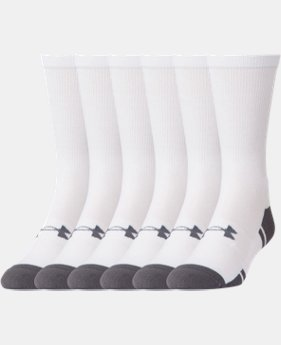 UA Resistor III Crew Socks – 6-Pack  2  Colors Available $21.99