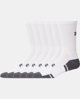 Best Seller Men's UA Resistor III Crew Socks 6-Pack  1 Color $21.99