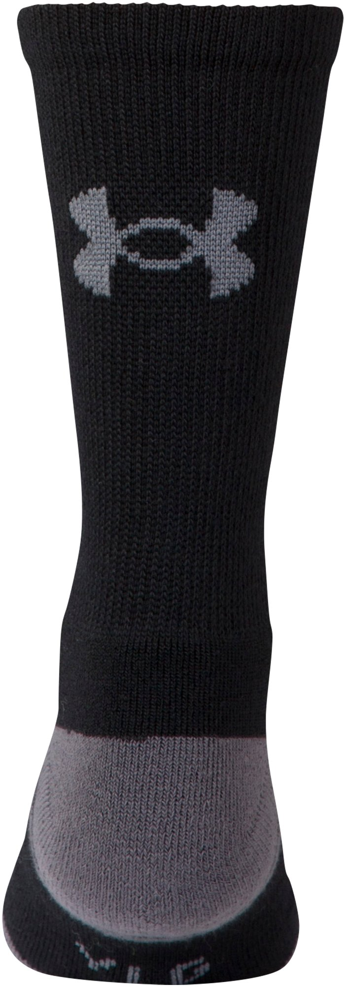 Boys' UA Resistor III Crew Socks – 6-Pack, Black , undefined