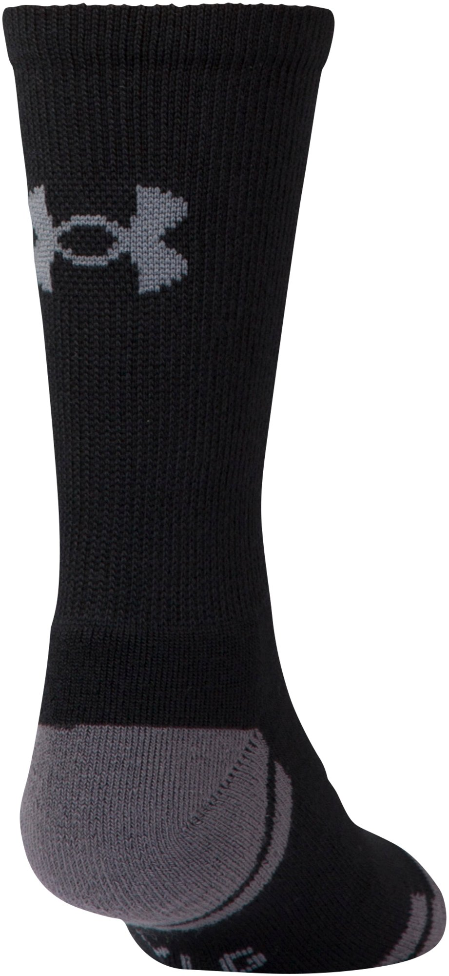Boys' UA Resistor III Crew Socks 6-Pack, Black