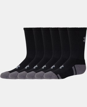Boys' UA Resistor III Crew Socks – 6-Pack LIMITED TIME: FREE SHIPPING 2 Colors $24.99