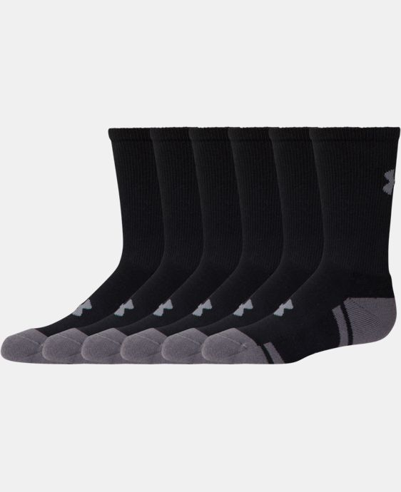 Best Seller Boys' UA Resistor III Crew Socks 6-Pack LIMITED TIME: FREE U.S. SHIPPING 1 Color $20.99