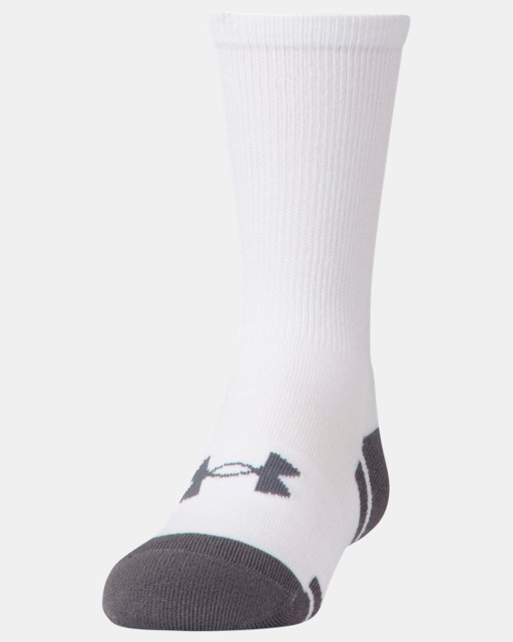 Boys' UA Resistor III Crew Socks - 6-Pack, White, pdpMainDesktop image number 0