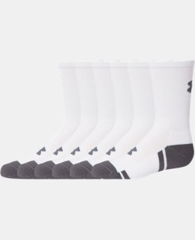 Boys' UA Resistor III Crew Socks – 6-Pack  1 Color $24.99
