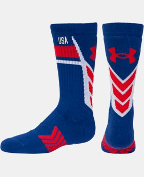 Boys' UA Undeniable Country Pride Crew Socks