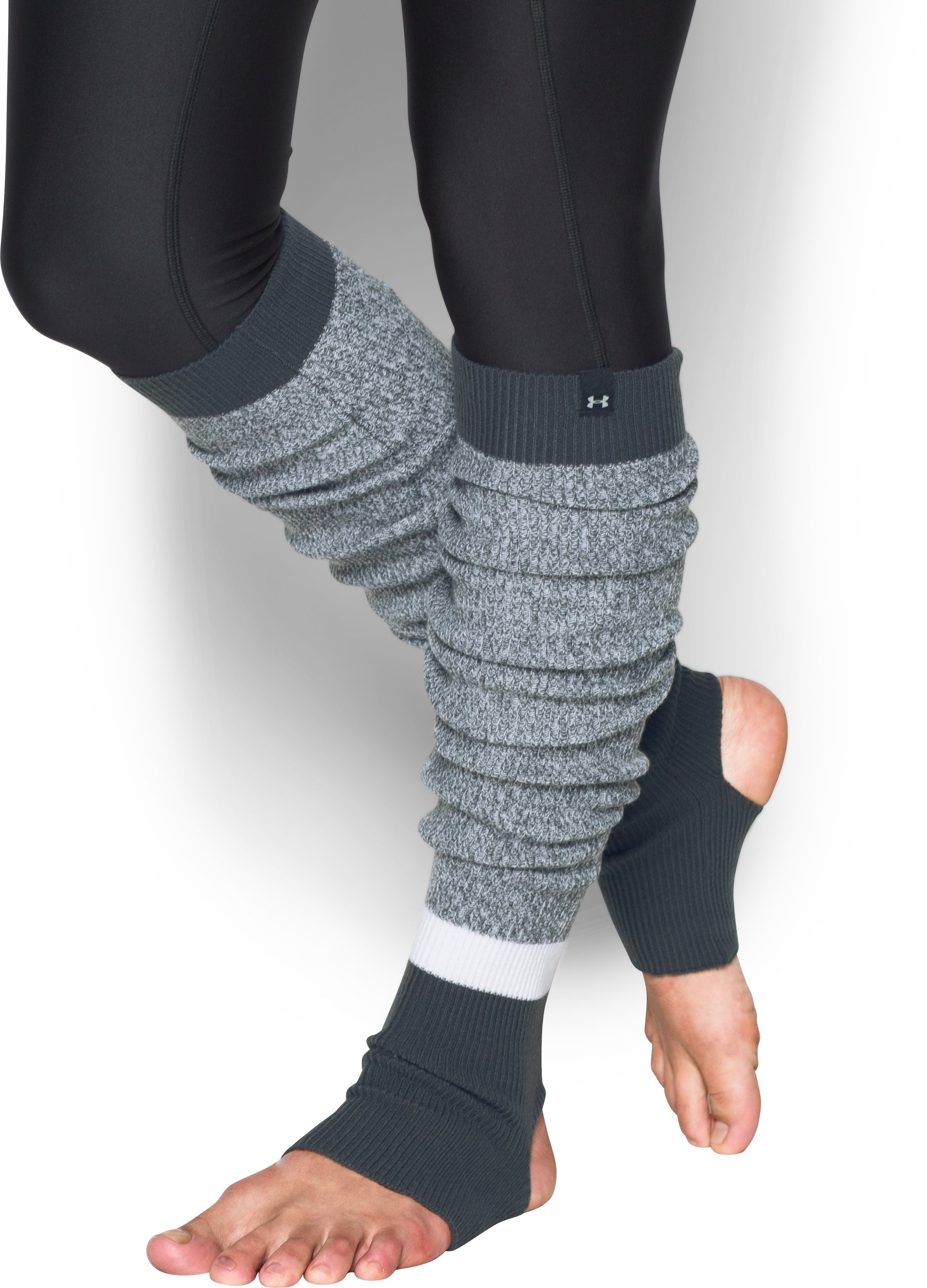 Women's UA Essentials Leg Warmers, STEALTH GRAY