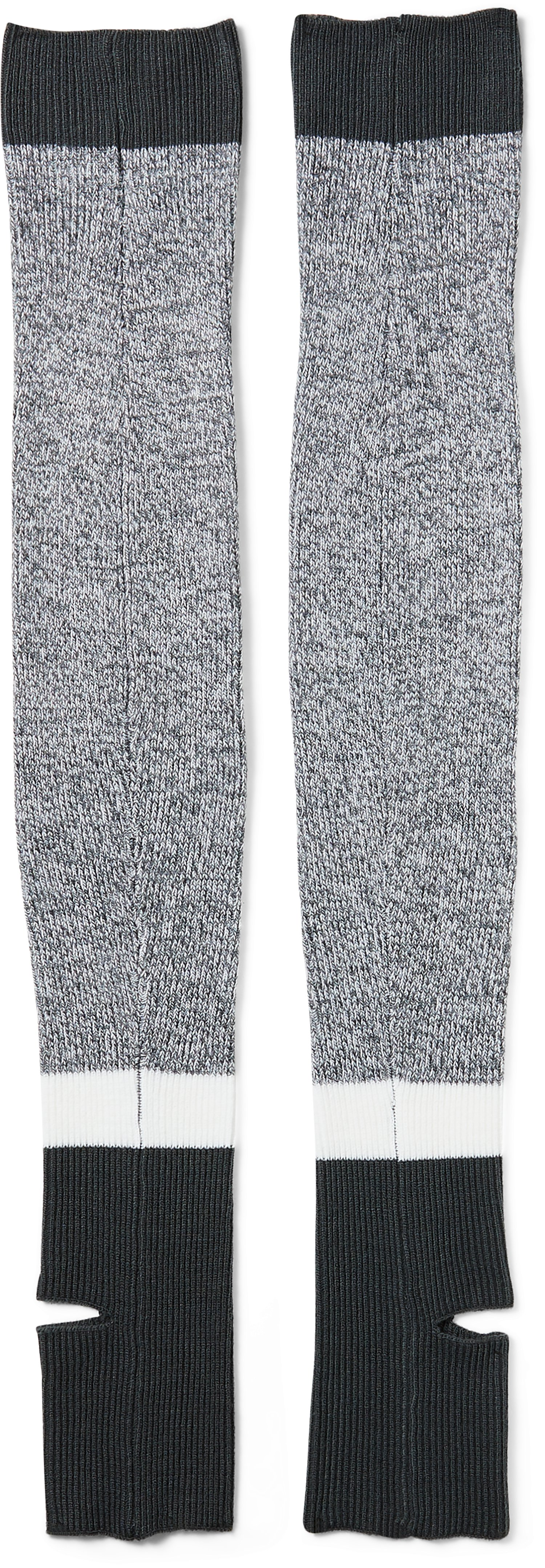 Women's UA Essentials Leg Warmers, STEALTH GRAY,