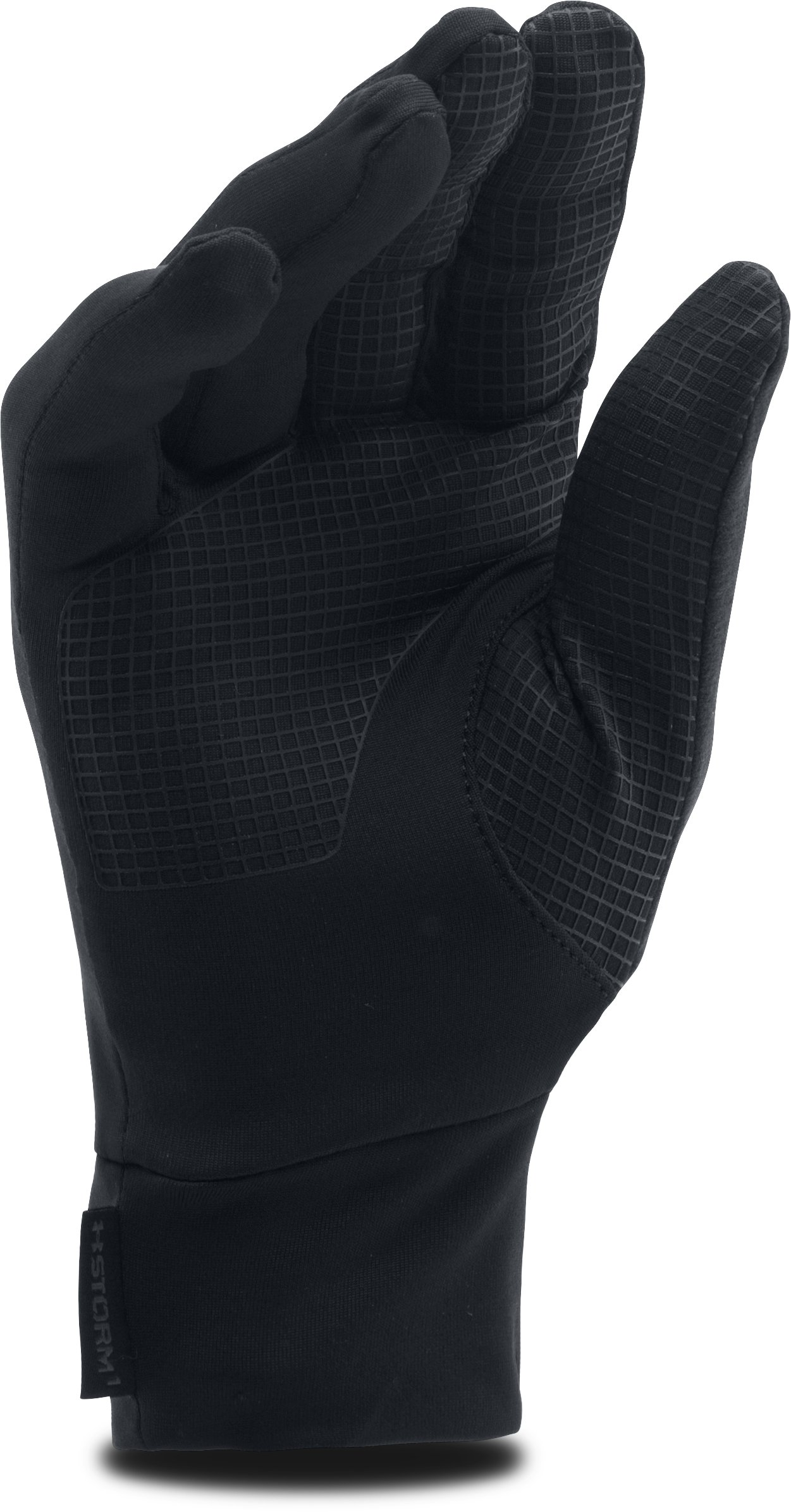 Men's UA No Breaks Armour® Liner Gloves, Black ,