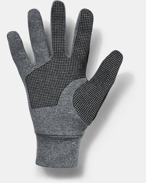 Men's UA No Breaks Armour® Liner Gloves, Gray, pdpMainDesktop image number 1