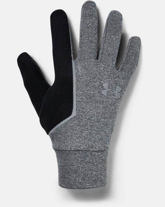 Men's UA No Breaks Armour® Liner Gloves, Gray, pdpMainDesktop image number 0