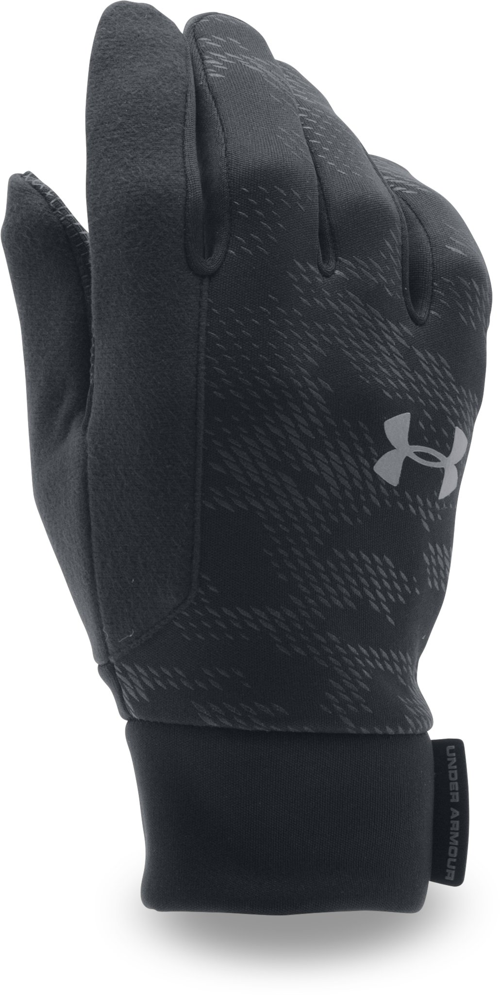 Men's UA No Breaks ColdGear® Infrared Liner Gloves, Black , undefined