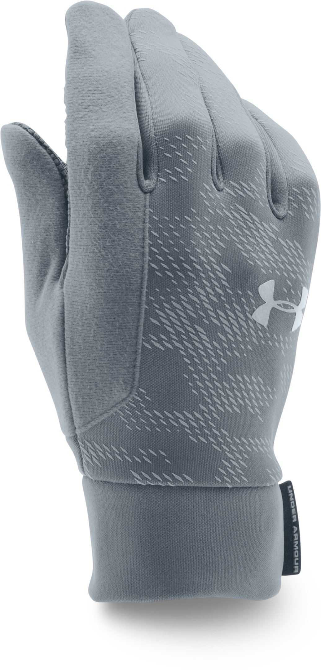 Men's UA No Breaks ColdGear® Infrared Liner Gloves, Graphite, undefined