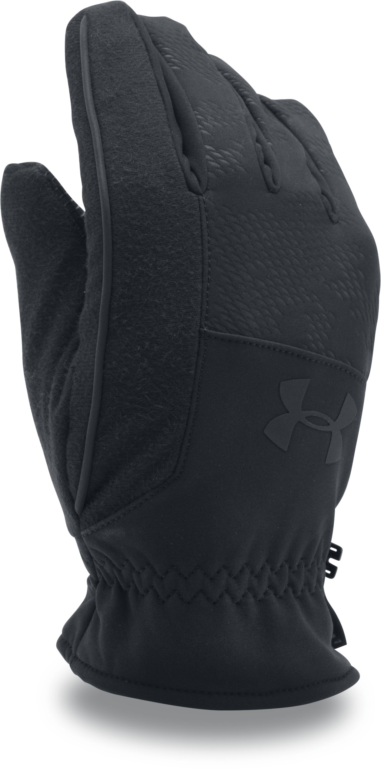 Men's UA No Breaks Softshell Gloves, Black , undefined