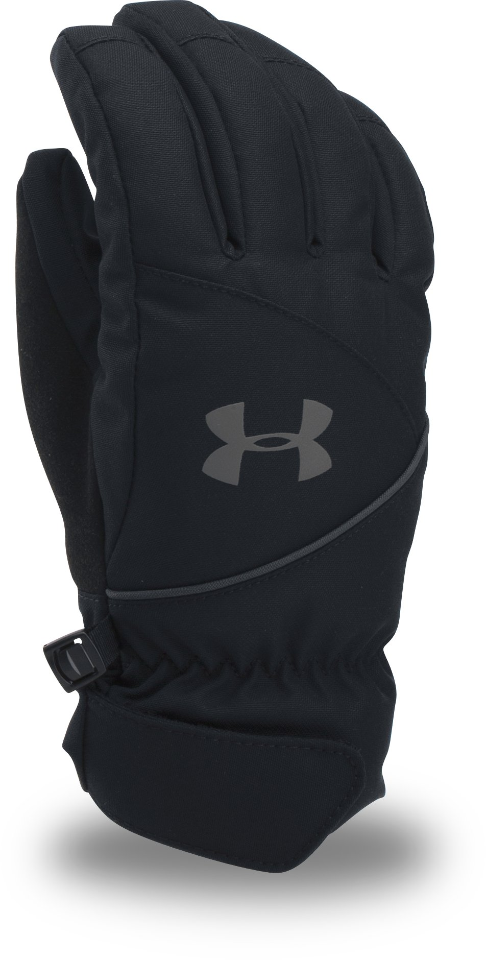 Boys' UA Mountain Gloves, Black