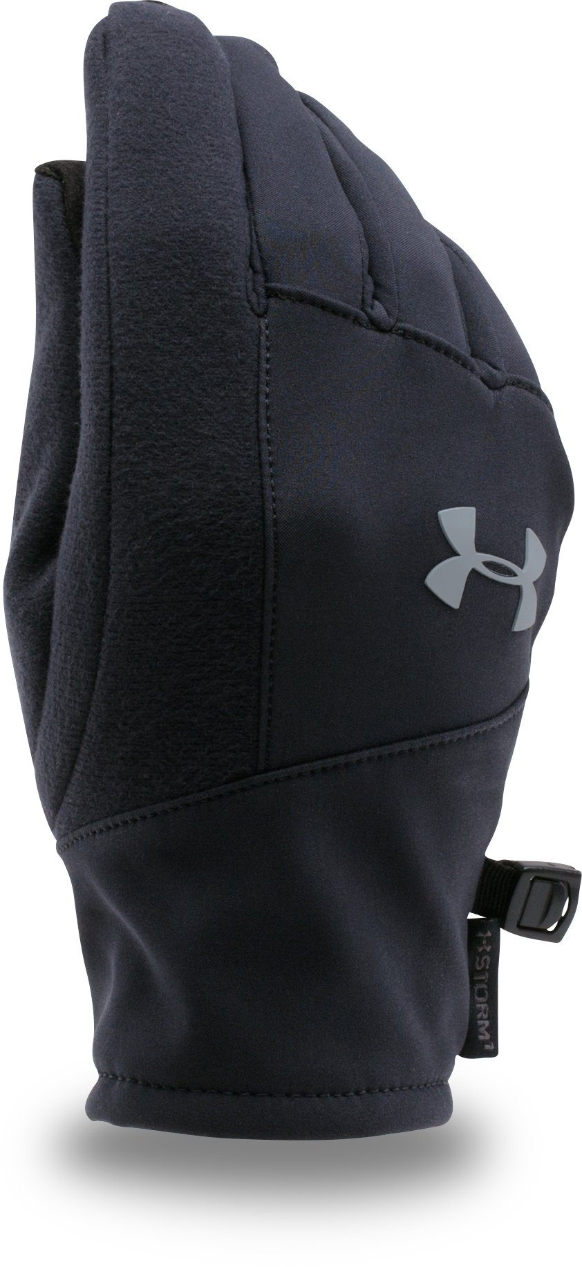 Kids' UA ColdGear® Infrared Softshell Gloves, Black , undefined